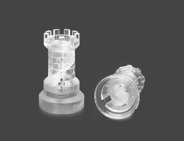 Transparent chess piece