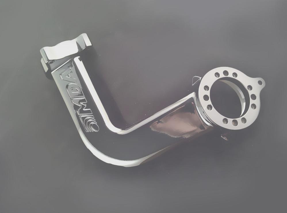Bracket with metallic finish